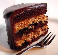 .: Tarta de Chocolate Aleman con relleno de Coco, Nueces y Dulce de Leche... sin palabras!!!