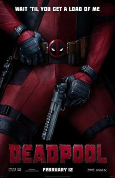 High quality reprint movie poster for Deadpool 2016. 11 x 17 inches on card stock.