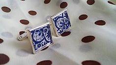 Šperky - Modro-biele manžetky