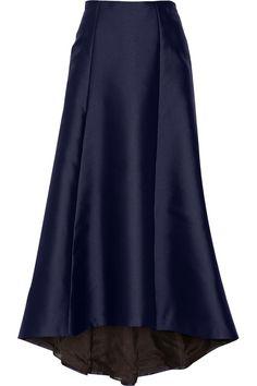 Adam Lippes | Asymmetric duchesse satin maxi skirt | NET-A-PORTER.COM