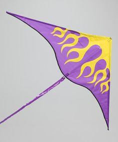 Loving this Purple Sky Fire Delta Kite on #zulily! #zulilyfinds