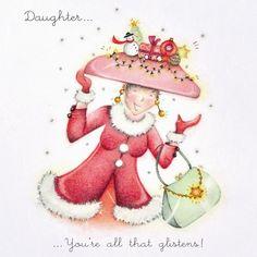 Cards » Daughter - all that glistens » Daughter - all that glistens - Berni Parker Designs