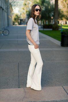 Wide leg pants.
