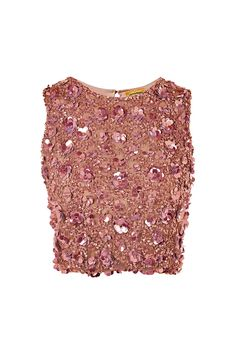 **Hazel Hand Embellished Top by Lace & Beads - Clothing- Topshop Europe