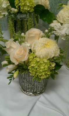 football mums, rose, hydrangea