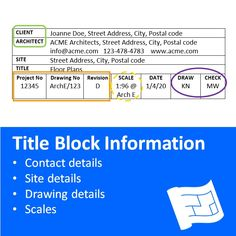 What can you expect to find in house plan title block information? Click through to www.houseplanshelper.com to find out how to read house plans and for more on home design. Blueprint Symbols, Floor Plan Symbols, Title Block, Free Floor Plans, Study Site, Section Drawing, Contour Line, Design Your Own Home, Time To Move On