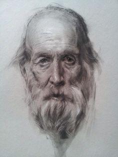 академический рисунок. портрет. карандаш