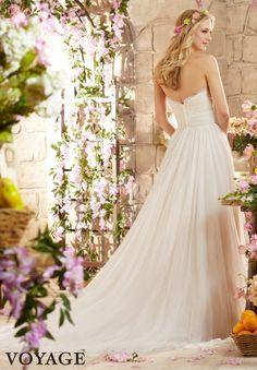 Wedding Dress 6801 Alencon Lace on Soft Net