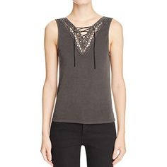 Project Social T Womens Crochet Front Sleeveless Camisole Top Gray S >>> Continue to the product at the image link-affiliate link. #Camisoles