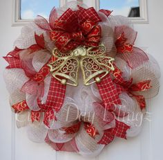 Christmas Wreath Deco Mesh Christmas Wreath Deco by EveryDayBlingz