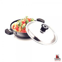 Garuda Deep Kadai: Buy Garuda Non-Stick Kadhai Induction Base With Stainless Steel Lid, 24 Cm Online | Oyekitchen.com