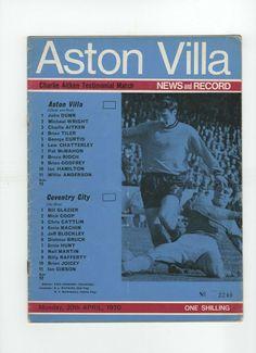 John Dunn, Coventry City, Football Program, Aston Villa, 1 John, Programming, Blues, English, Sky