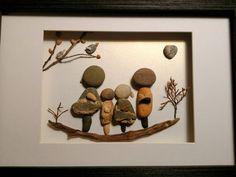 Arte piedra playa arte rupestre arte familia por madebynatureandme