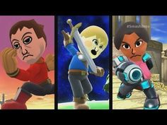Super Smash Bros For Wii U/3DS - Miis Joins The Battle.
