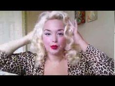 Marilyn Monroe Hair Tutorial NO Heat by Bianca Bombshell