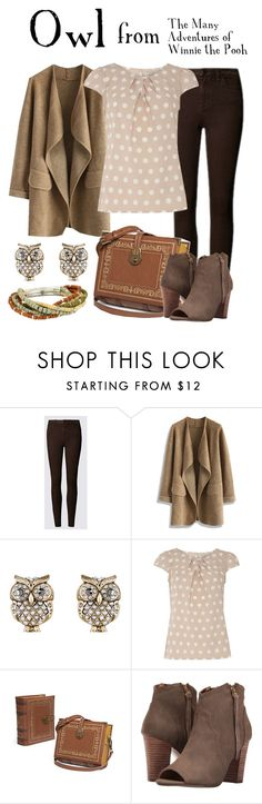 """Owl"" by waywardfandoms ❤ liked on Polyvore featuring Chicwish, Accessorize, Billie & Blossom, XOXO, Robert Lee Morris, disney, disneybound and winniethepooh"