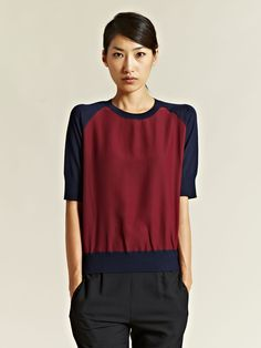 Jil Sander Women's Silk And Virgin Wool Raglan Top