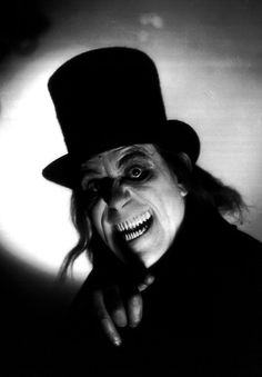 """Lon Chaney, from lost silent film """"London After Midnight""""."""