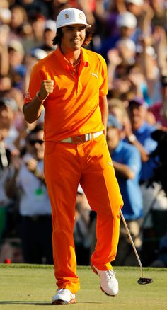 Q: What did Rickie Fowler wear on Sunday? A: Puma's 210 Monoline cap; Rickie Fowler, Leather Apron, Summer Barbecue, Cold Day, Athlete, Celebs, Sunday, Mesh, Cap