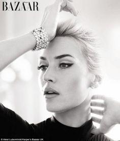 Kate Winslet appearing in Harper's Bazaar UK