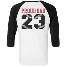 Personalize #BaseballDadShirts for Dad to wear to #OpeningDay and all the kids' #baseball games. GO DAD!