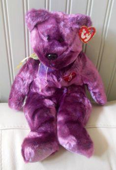 TY TEDDY BEAR Plush Beanie Buddies 2000 SIGNATURE Large MWT 1999 14