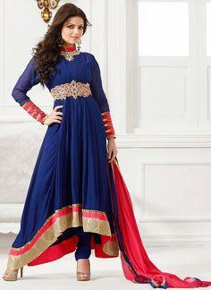Blue Madhubala Anarkali Suit
