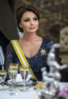 Mexican President's wife Angelica Rivera attends a Gala Dinner in honour of Mexican President Enrique Pena Nieto at The Royal Palace on June 9, 2014 in Madrid, Spain.