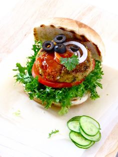 die 12 besten bilder von burger vegetarisch vegetarische burger vegetarische rezepte und. Black Bedroom Furniture Sets. Home Design Ideas