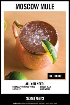 Bar Drinks, Cocktail Drinks, Cocktail Recipes, Alcoholic Drinks, Cocktails, Beverage, Vodka Lime, Lime Juice, Holiday Drinks