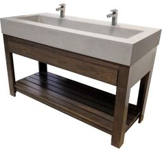 kitchen sink image 60 lavare vanity with concrete rectangle sink amp drawer 2747