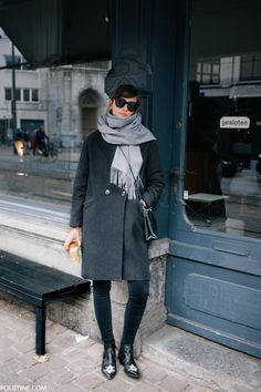 Winter Outfits Women, Casual Winter Outfits, Winter Dresses, Fall Outfits, Dress Winter, Winter Scarf Outfit, Fashion Mode, Minimal Fashion, Trendy Fashion