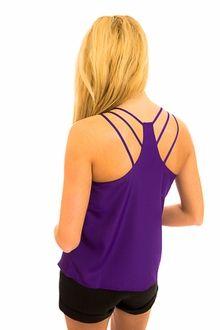 Purple Strap Back Tank - love the strappy back detail :)