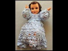 Crochet : Niño Jesus. Faldon. Parte 1 de 2 - YouTube Baby Patterns, Crochet Patterns, Jesus Clothes, Baby Jesus, Crochet Clothes, Crochet Baby, High Neck Dress, Knitting, Youtube