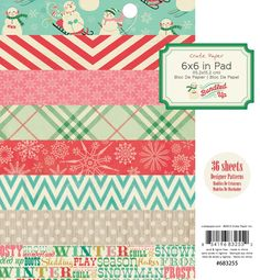 Bundled Up Collection 6x6 Pad by Crate Paper Save 50% - Part Time Sally Store
