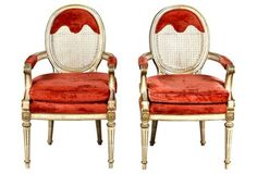 French Provençal-Style Chairs, Pair
