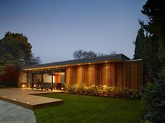 #Pool house at night with cozy #lighting