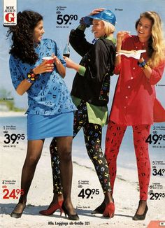 leggings were crazy at the time - Women's Fashion 80s And 90s Fashion, Fashion Mag, Retro Fashion, Vintage Fashion, Fashion Trends, Crazy Fashion, Young Fashion, Korean Fashion, Fashion Inspiration