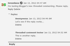Blogger embedded comment
