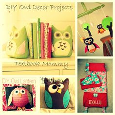 Textbook Mommy: DIY Owl Decor Projects