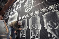 Chalk Mural by Ben Johnston