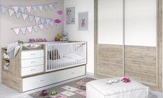 Infantiles Kids. Convertible con cambiador y cama nido.