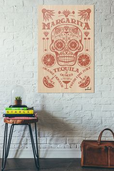 A personal favorite from my Etsy shop https://www.etsy.com/listing/482381619/dia-de-los-meurtos-print-day-of-the-dead