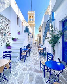 """Forbes Travel Guide on Instagram: """"We want to start the day with Greek coffee and baklava in this charming nook. Share your dream destinations with #FutureTravelGuide for a…"""" Greek Islands Vacation, Greek Design, Unique House Design, Boutique Design, Future Travel, Blue Walls, Luxurious Bedrooms, Places To See, Greece"""