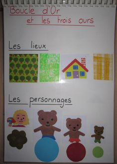 Measurement Kindergarten, Goldilocks And The Three Bears, Film D, Core French, Teaching French, Stories For Kids, Learn French, Literacy, Fairy Tales