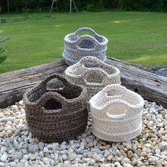 Canastas en crochet