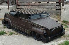 Custom slammed #Subaru powered #VW #thing