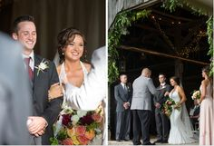 Wedding in a family barn. Flowers by Victorian Gardens photo by  @larkphotos
