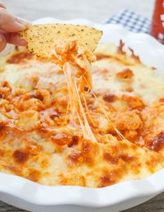 Buffalo Chicken Dip (Keto Friendly): 1 package cream cheese, softened 1 cup cooked and shredded chicken breast 1/2 cup buffalo wing sauce 1/2 cup ranch or blue cheese dressing 2 cups shredded cheese Homemade cheese crisps to dip or other keto chip/bread Cook 350 for 20-25 mins