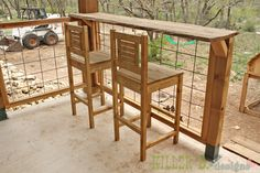 Modern Porch Railing: A How-To (kinda) Deck Railing Design, Patio Railing, Pergola, Deck Design, Porch Bar, Deck Bar, Outside Living, Outdoor Living, Cabin Decks